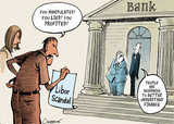 Financial scandal. Banks manipulated the Libor rates.