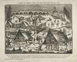 Frost Fair above Blackfriars Bridge; February 1814