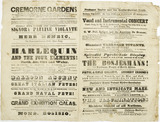 Programme for the Cremorne Pleasure Gardens: c.1851-1856