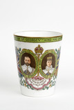 Beaker to commemorate the coronation of George V and Mary; 1911