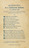 Acrostic, on a celebrated aeronaut: 1837