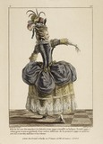 A print of a lady in a dress; 1778