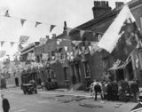 Street party for the Coronation of Queen Elizabeth 11; 1953