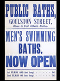 Large poster with Public Baths, Goulston Street; c1890's