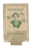 Game entitled 'Elusive Christabel'; 1912