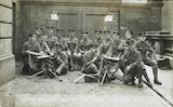 Captain Greer of the 1st Irish Guards and his team; c1914