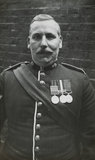 Sergeant Major wearing medals; c.1913