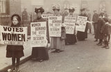 Poster parade organised by the Women's Freedom League to promote