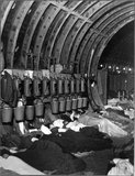 Liverpool Street Station underground shelter during the Blitz; 1940