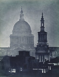 St. Pauls Catherdral at night; 1934