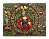 High-relief oak panel depicting King Stephen: 16th century