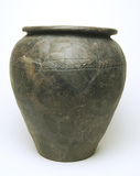 Large Roman hand-made ceramic jar: 1st century