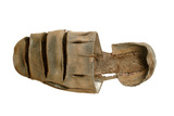 Brown leather shoe: 16th  century