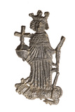 Pewter badge of King Henry VI: Late 15th- early 16th century