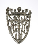 Pewter pilgrim badge: 15th century