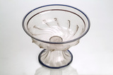 Clear glass bowl with a pedestal base: 16th century