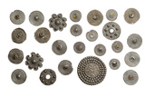 Pewter brooches from an Anglo-Saxon hoard: 11th century