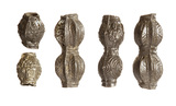 Group of decorated pewter beads: 11th century
