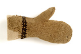 Small knitted woollen mitten:16th century