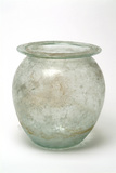 Roman glass cremation urn