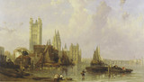 The Houses of Parliament from Millbank: 19th century