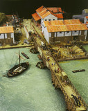 Reconstruction model of the port of Londinium c.AD100