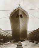 Ship in dry dock, King George V dock: 1921