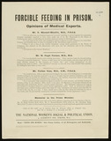 Forcible Feeding in Prison. Opinions of Medical Experts: c1910