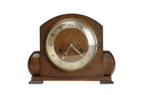 Mantlepiece clock in wooden case: 20th century