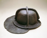 Leather fireman's helmet: late 17th century