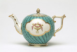 Derby Chelsea teapot and cover: 18th century