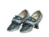 Pair of silk shoes: 18th century