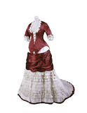 Princess line dress: 19th century