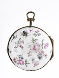 Enamel cased verge watch: c.1770