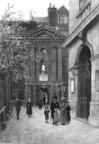 Entrance to Christ's Hospital: 19th-20th century