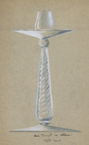 Drawing of a glass candlestick: 20th century