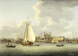 The Tower of London from the River: late 18th-early 19th century