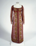 Red gauze dress with chenille embroidery: 1808