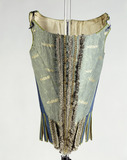 Wool, silk and linen corset: 17th century