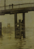 Battersea Bridge - Misty Moonlight: 1869