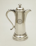 Silver-plate communion flagon: 1839