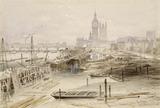 The Thames Embankment Works between Charing Cross Bridge and Westminster: 1865