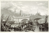The opening of new London Bridge: 1831
