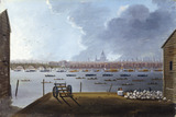The Funeral Procession of Lord Nelson on the Thames: 1806