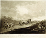 His Majesty in his Travelling Chariot returning to Town from Windsor accompanied with his usual Escort of Guards, Riders and Attendants: 1806