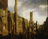 The Ruins of the Pantheon in Oxford Street after the Disastrous Fire of 14th January 1792