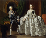 David Garrick and Hannah Pritchard in a Scene from 'The Suspicious Husband': 18th century