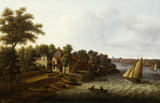 The Thames at Millbank: 18th century
