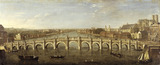 Westminster Bridge from the River, Looking South: 1750