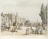 Entrance of Tottenham Court Road Turnpike, with a view of St James's Chapel: 1798